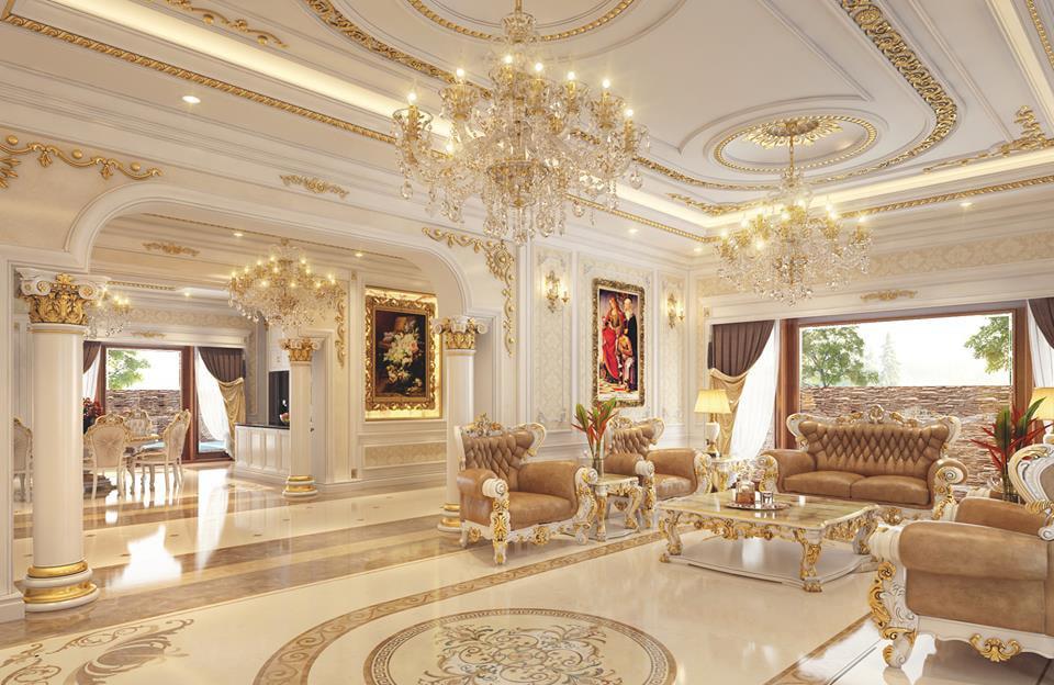 Nội thất phòng khách cổ điển 2