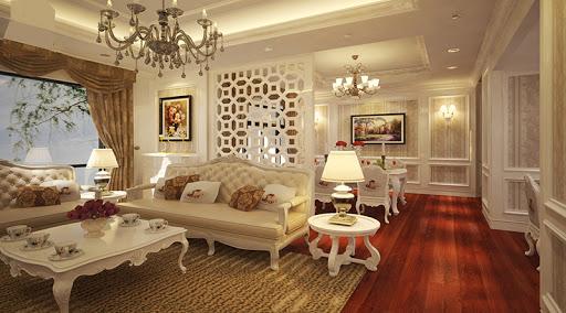 Nội thất phòng khách cổ điển 4