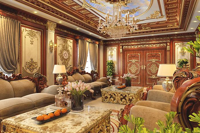 Nội thất phòng khách cổ điển 5