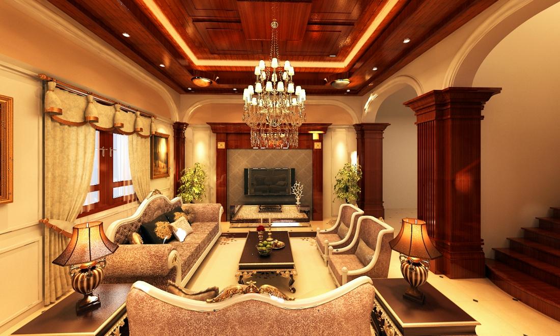 Nội thất phòng khách cổ điển 6